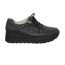 Waldläufer H-Lana Sneaker, Hirsch Leder, schwarz, Weite H 758009-199-001