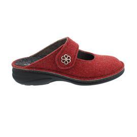 Finn Comfort Brig, Clog aus Doublefilz, Red, Klettverschluss 6567-482147