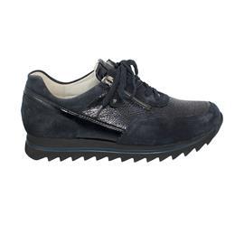 Waldläufer Haiba Sneaker, Order / Taipei kombi., deepblue / notte, Weite H 923011-609-763