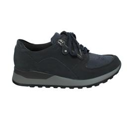 Waldläufer Hiroko-Soft, Sneaker, Nubuk/Lack/Stretch, notte (dunkelblau), Weite H H64007-307-194