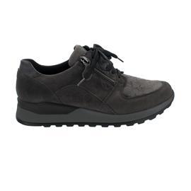 Waldläufer Hiroko-Soft, Sneaker, Velour/Lack/Stretch, carbon / asphalt (grau), Weite H H64007-324-497