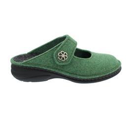 Finn Comfort Brig, Clog aus Wollfilz, Green, Klettverschluss 6567-416278
