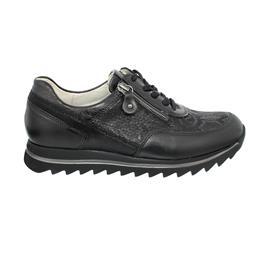Waldläufer Haiba Sneaker, Memphis / Snak kombi., schwarz, Reißverschluss, Weite H 923011-702-001