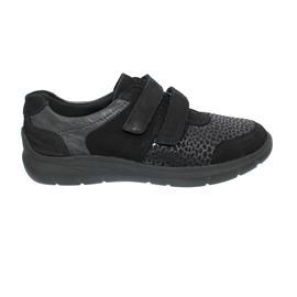 Waldläufer H-Leonie, Sneaker, Nubukleder / Stretch, schwarz, Weite H 796H31-305-001