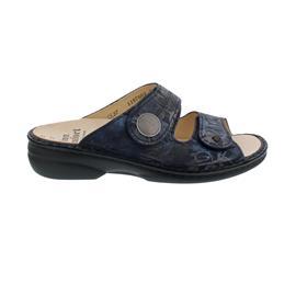 Finn Comfort Sansibar Pantolette, Rifrello, Atlantic, Classic- Damen, Wechselfußbett, 2550-716041