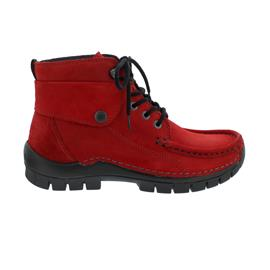 Wolky Jump Winter Bootie, Oiled nubuck, Dark-red, 0472516-505