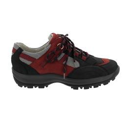 Waldläufer Holly Outdoor-Halbschuh, Nubukleder / Torrix, schwarz / rubin / silber, Weite H 471008-304-583