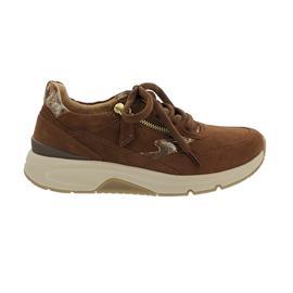 Rollingsoft Sneaker low, Samtchevr./ Preseus, new whisky, gold, Wechselfußbett 76.898.41