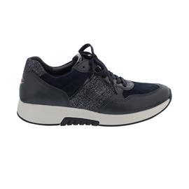 Rollingsoft Sneaker low, Samt/Foulard/Stripe, dark-blue/ocean, Wechselfußbett 76.948.56