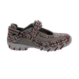 Allrounder Niro Sneaker-Klett, Weaving 48/Super Mesh 05, Red/Piomba, Allrounder-Technologie, N819