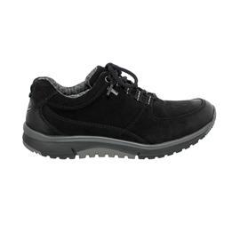 Rollingsoft Sneaker low, Nubuk Oil (Tex), schwarz, Wechselfußbett 56.996.87