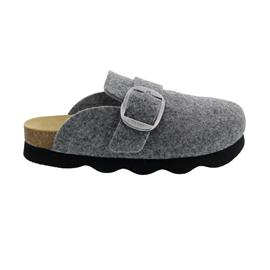 Gabor Home Hausschuh, Filz, Naturkork-Fußbett, nachhaltig hergestellt, grau 73.021.19
