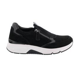 Rollingsoft Sneaker low, Samtchevreau/Lack, schwarz, Wechselfußbett 76.892.37