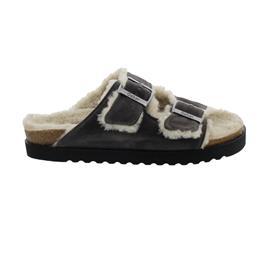 Gabor Home - Hausschuh, Dreamvelour (Wolle), Fußbett aus recyceltem Kork, wallaby 73.014.11