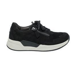 Rollingsoft Sneaker low, Nubuk Oil, schwarz, Wechselfußbett 76.958.47