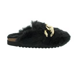 Gabor Home - Hausschuh, Cozy / Velour, Fußbett aus recyceltem Kork, schwarz 73.013.17