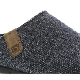 Rohde Damen Pantolette, Softfilz bedr. / Strick, ocean, Wechselfußbett, Weite G 6633-56