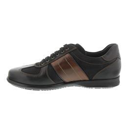Galizio Torresi Sneaker, Foulard (Glattled.) Nero, Nabuk Nero 314166