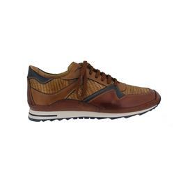 Galizio Torresi Sneaker, Glattleder, Marrone / Nougat / Blue 413064