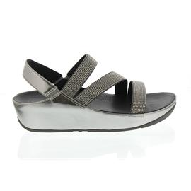 FitFlop Crystall Z-Strap Sandal, Pewter (grau) E24-054
