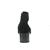 Gabor Stiefelette, Samtchevreau/Lack (Micro), schwarz / Absatz anthrazit 75.860.37