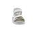 Waldläufer Hester Sandale, Dynamic-Sohle, Memphis Bufa Memphi, weiss/silber, Weite H 404007-311-663