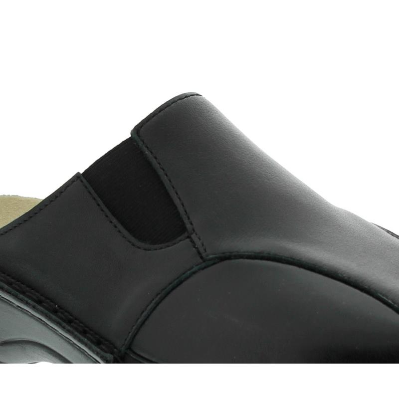 Berkemann Marion, schwarz Leder / Stretch, Clog 3420-906