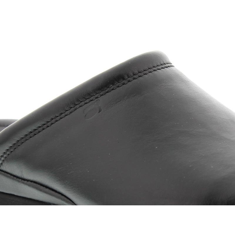Rohde Herren-Pantolette, Softnappa (Glattleder), schwarz Weite G1/2 6600-90