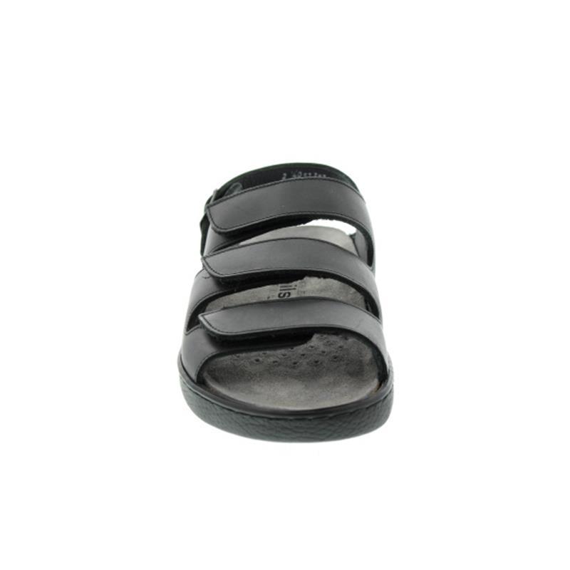 Mephisto Jack, Glattleder, schwarz, 3 Klettverschlüsse, Wechselfußbett J512