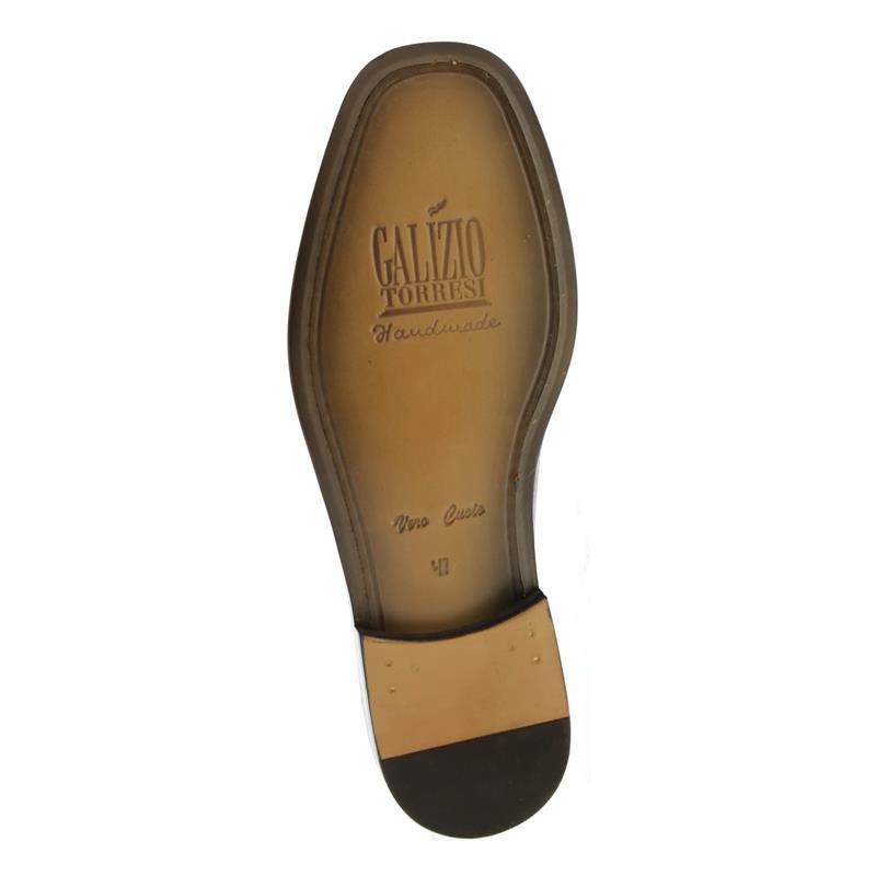 Galizio Torresi Slipper, extraweit, Ledersohle, Glattleder, braun 113961