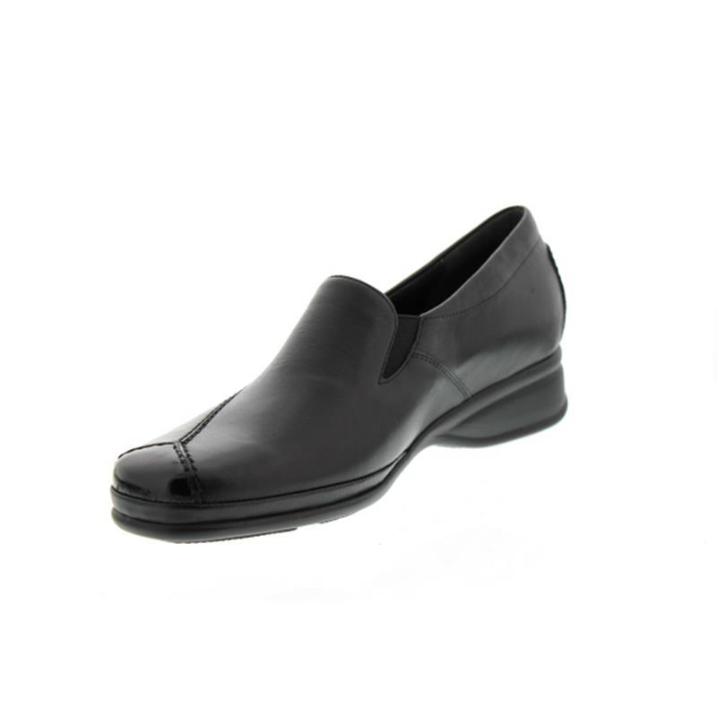 Semler Ria, Slipper, Soft-Nappa/K-Lack, schwarz, Vario-Fussbett, Weite H R1635-118-001