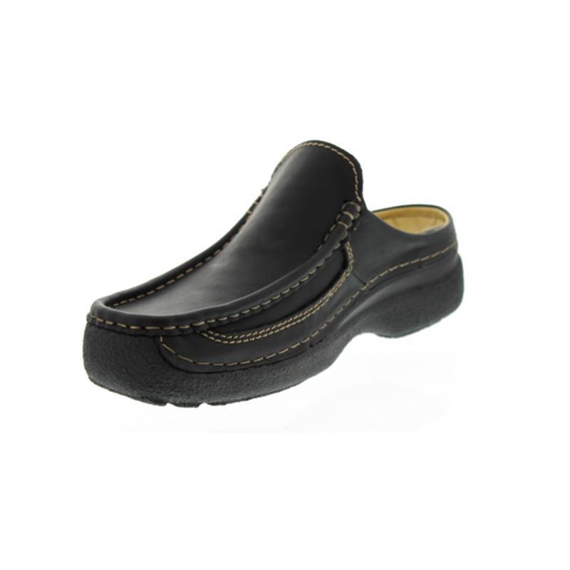 Wolky Roll-Slide Clog, Glattleder, Black 09210-50000