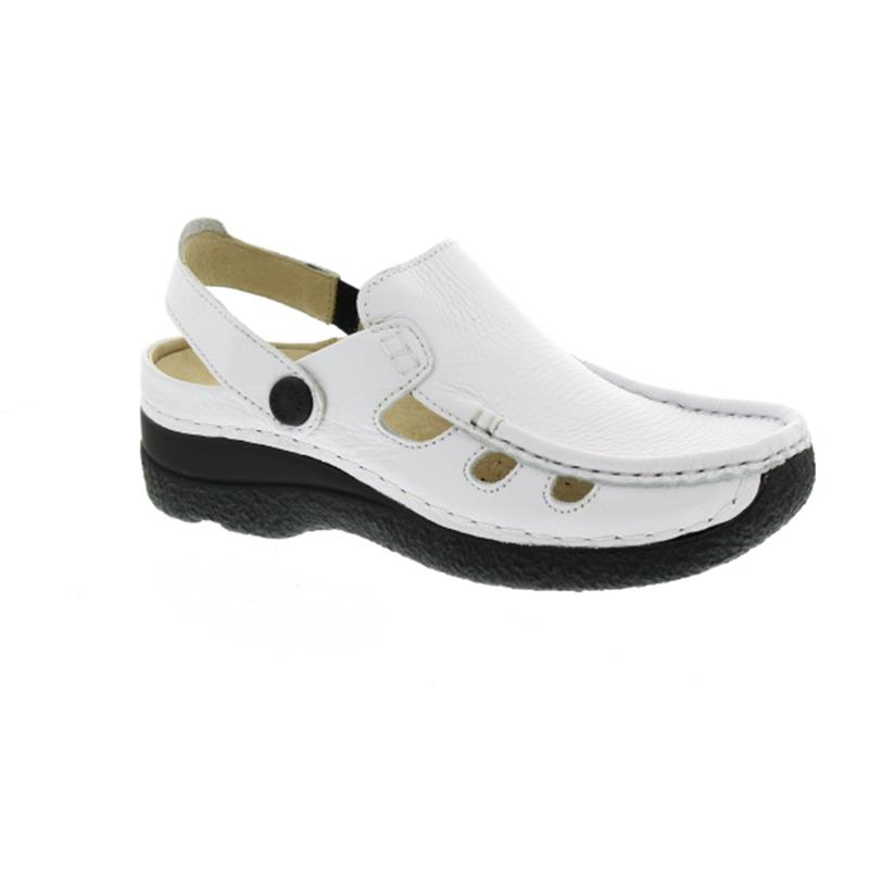 Wolky Roll-Multi, Clog, Printed leather, White 0622070-100