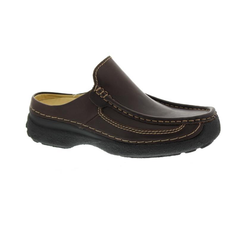Wolky Roll-Slide Clog, Glattleder, Brown 0921050-300