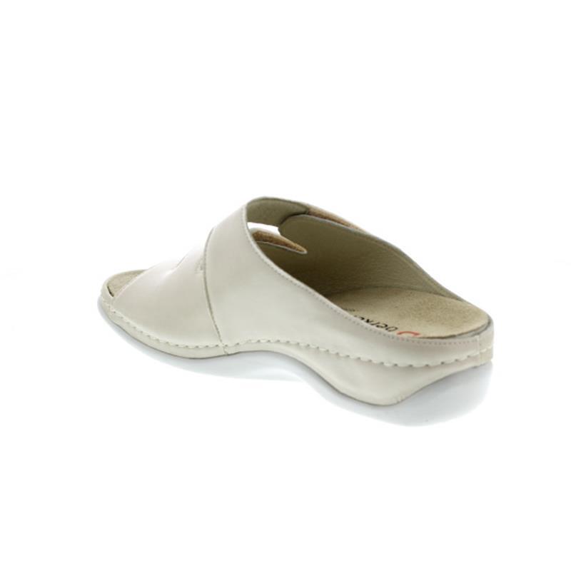 Berkemann Andrea, Pantolette, Leder/Stretch, beige, Wechselfußbett 1013-725