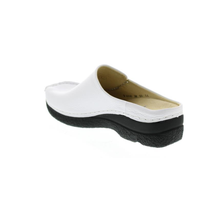 Wolky Seamy-Slide, Clog, Printed leather, White AYR 0625070-100