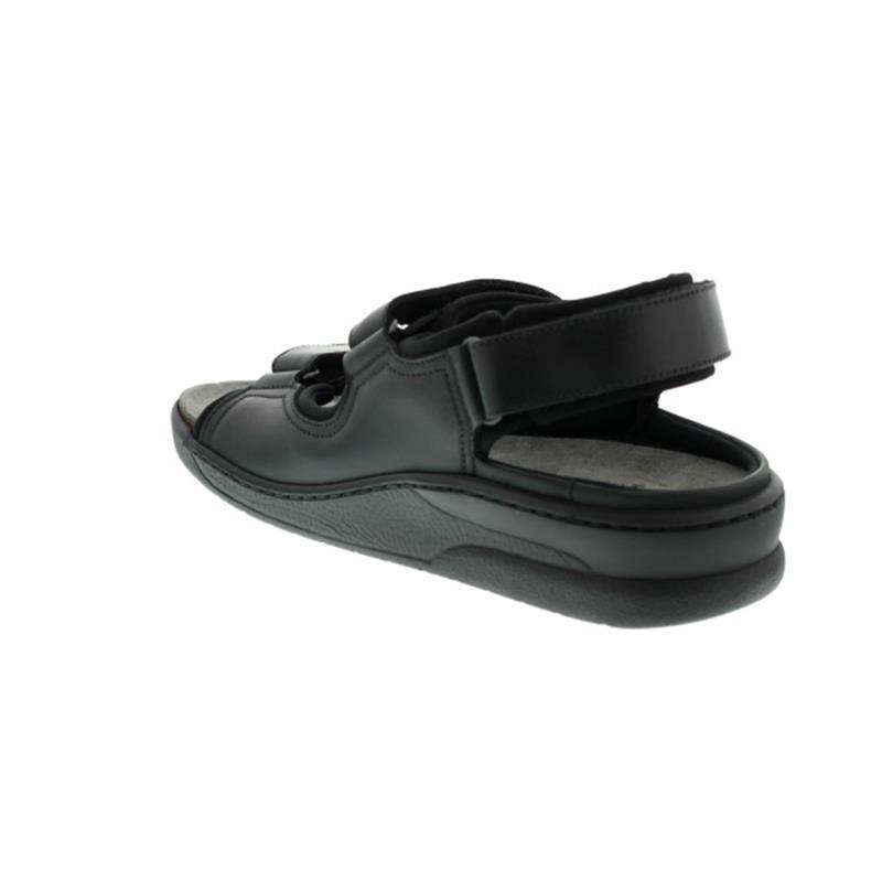 Mephisto Valden V843, Sandale, Oldbrush (Fettleder),  Wechselfußbett, Klettverschluß, black