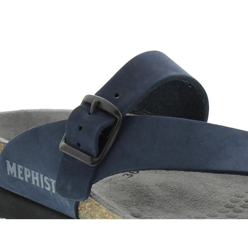 Mephisto Helen, Sandalbuck 6045 (Nubukleder), navy, Zehensteg H017