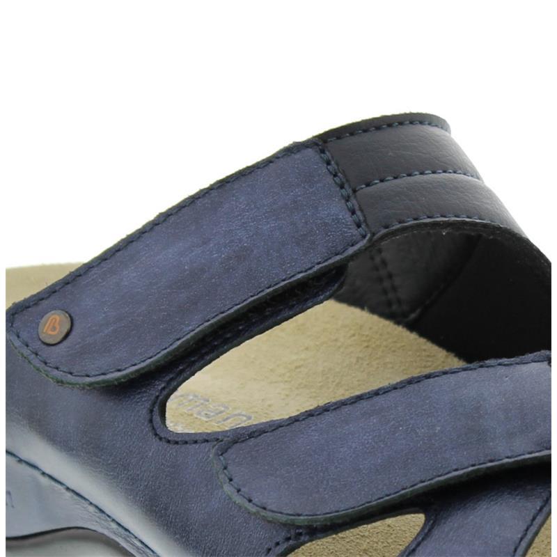Berkemann Janna, Pantolette, blau, Perlato / Stretch 1027-371