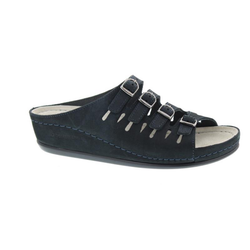 Berkemann Hassel, Pantolette, Nubuk blau, 0737-320