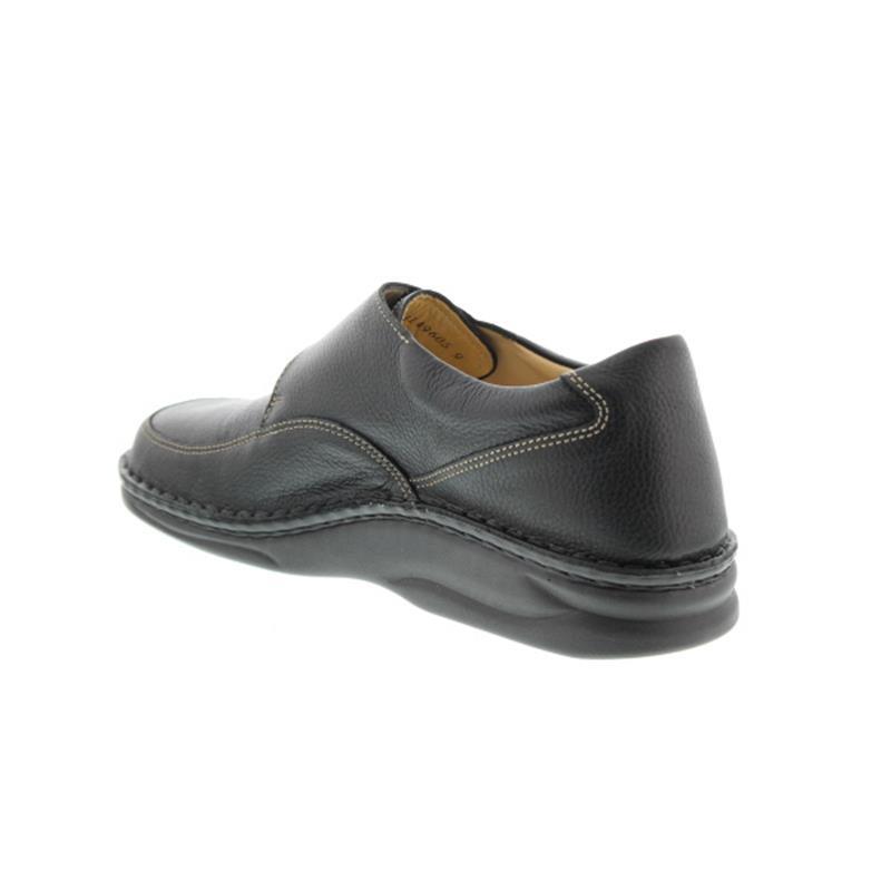 Finn Comfort Braga, Halbschuh, Klettverschluss, Bison (Glattleder), schwarz 1108-055099