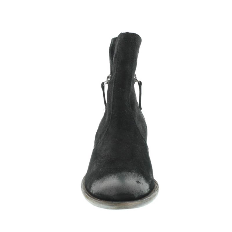 Högl Stiefelette, Waxedvelour-Leder schwarz, 102512-0100
