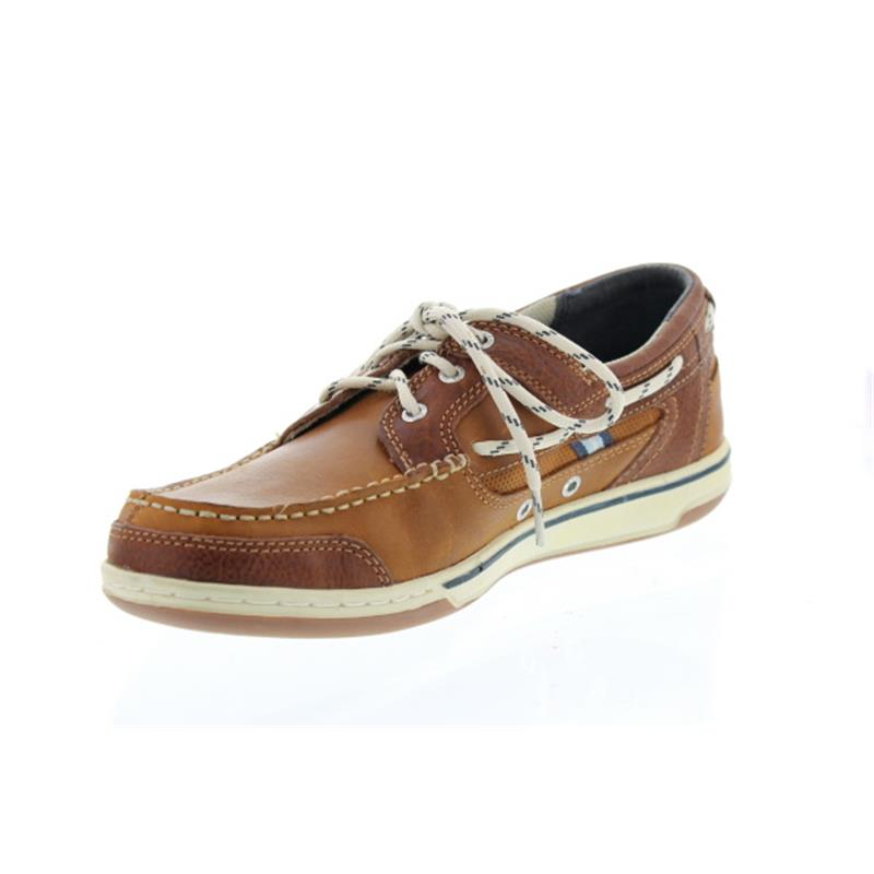 Sebago Triton Three-Eye, Full-Grain Leather (Glattleder), brown-cognac, Man 70004Z0-907