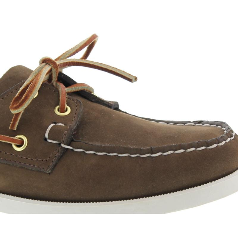 Sebago Docksides, Nubuk, dark brown, Men 7000GA0-901 vorher 727-58