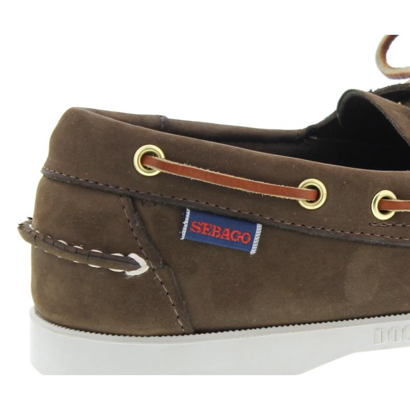 Sebago Docksides, Dark Brown Nubuck, B72758 Men