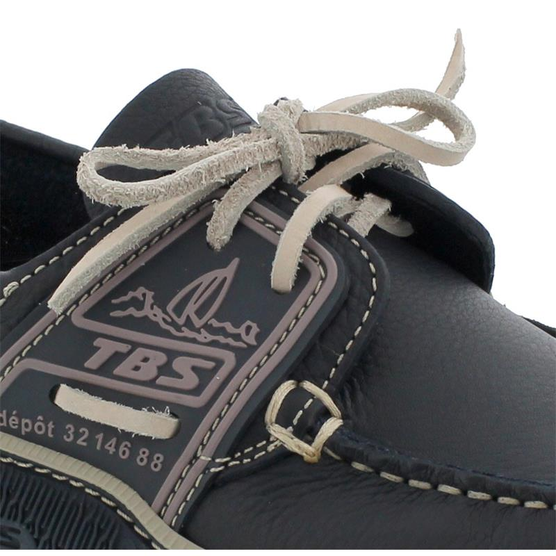 TBS Globek Segelschuh, Bateau Full Grain Leather, Marine/ Froment, B8D12