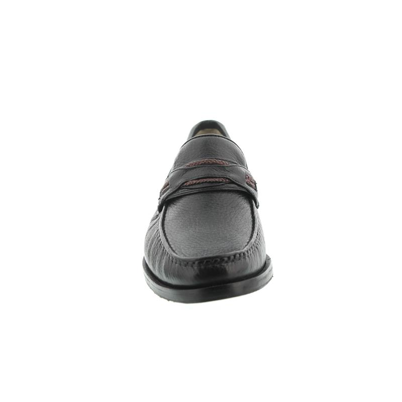 Manz Capri Mok, Hirsch-Leder, Gummisohle schwarz/bordo, Weite G, 103052-12-304