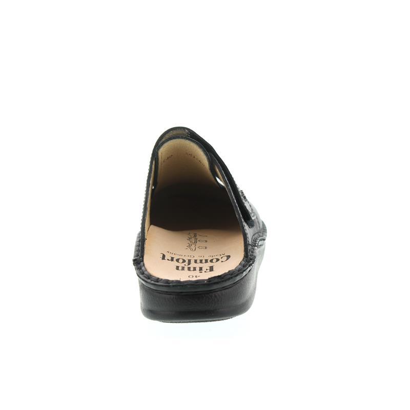 Finn Comfort Amalfi - Clog, Klettverschluss, Caratrangun (Glattleder), schwarz 1515-044099