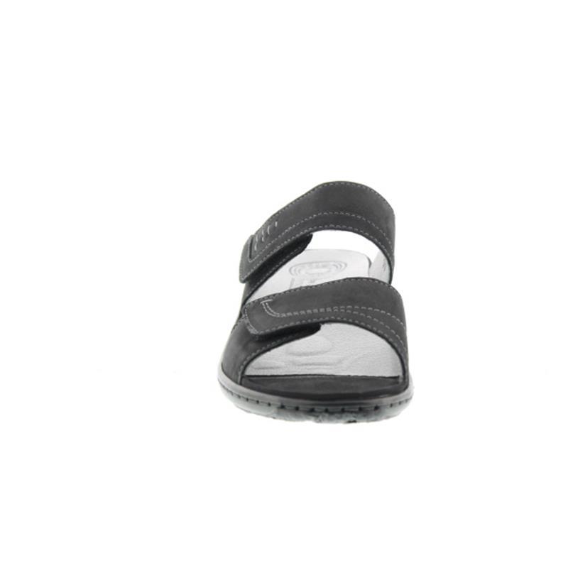 Waldläufer Garda, Pantolette, Denver schwarz, Weite G, 210501-191-001