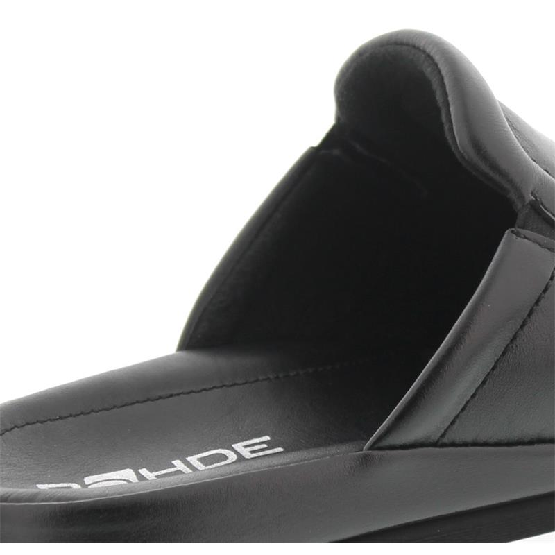 Rohde Varberg, Herren-Pantolette, Softnappa, schwarz, Weite G 1/2 6607-90